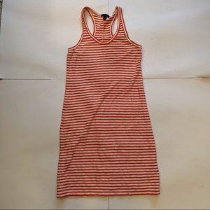 J. Crew Racerback Striped Tank Dress